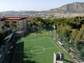 Il campo di calcetto N.1 (con spalti e spogliatoi, usato per le attività sportive curriculari)